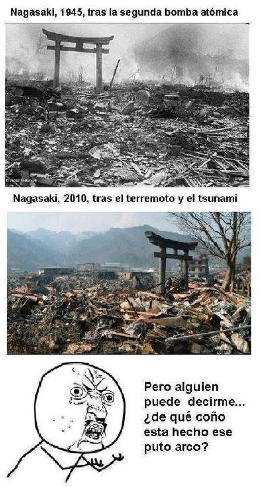 meme, nagasaki, 2010, terremoto, tsunami, bomba atomica