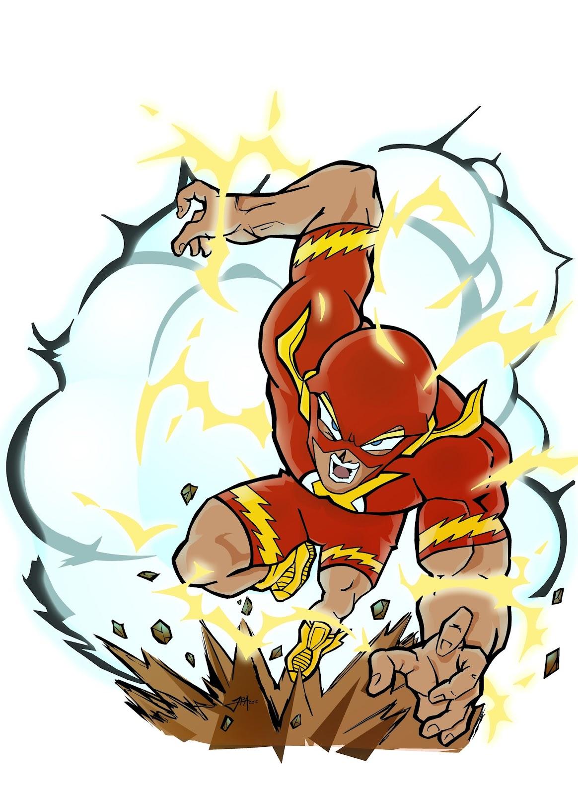the flash, superheroe manga, fan art, akira toriyama, dibujo