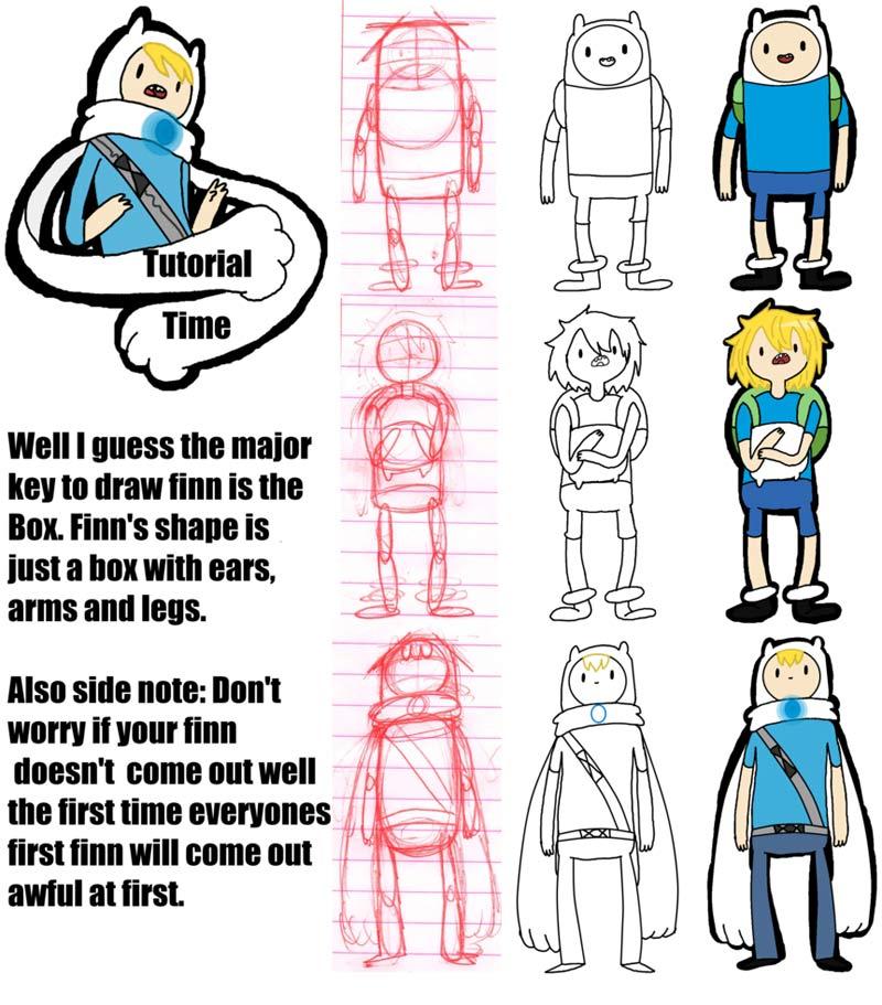 Como dibujar a los personajes de Hora de Aventura