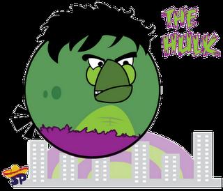 Hulk Superheroes estilo Angry Birds