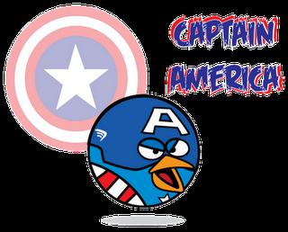Captain America Superheroes estilo Angry Birds