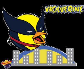 Wolverine Superheroes estilo Angry Birds