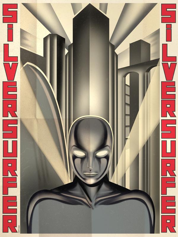 Silver Surfer Art Deco