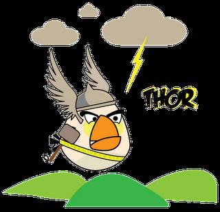 Thor Superheroes estilo Angry Birds