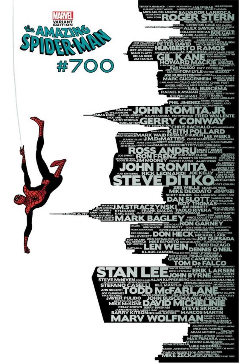 Hermosa portada Spider-man #700