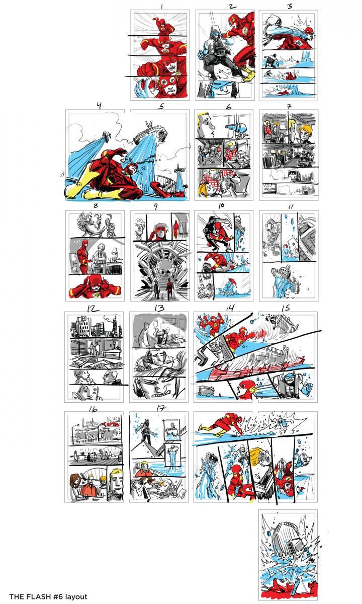 Bocetos de páginas THE FLASH #6