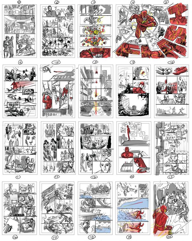 Bocetos de páginas THE FLASH #1