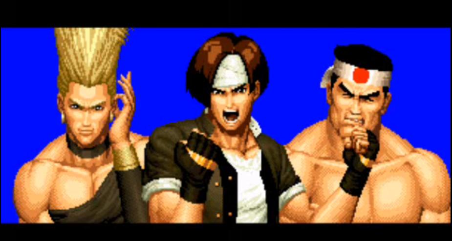 Equipo Japon: Benimaru, Kyo, Goro Daimon
