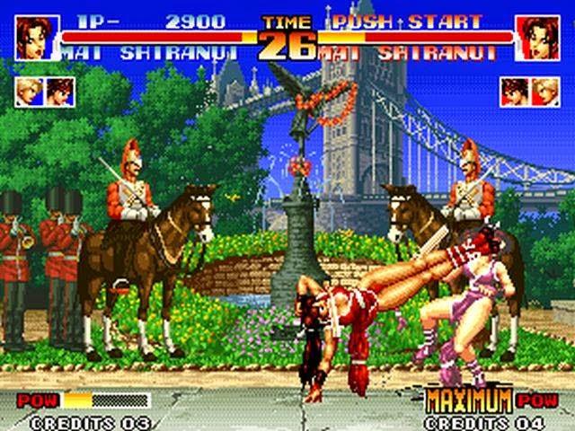 Escena de pelea Mai King of Fighters 94