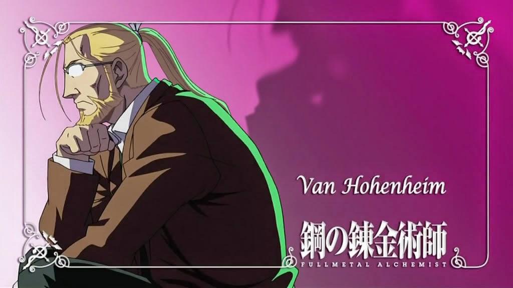 Full Metal Alchemist Brotherhood Van Hohenheim