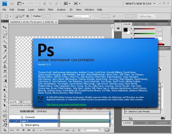Descarga Photoshop CS4 Portátil español