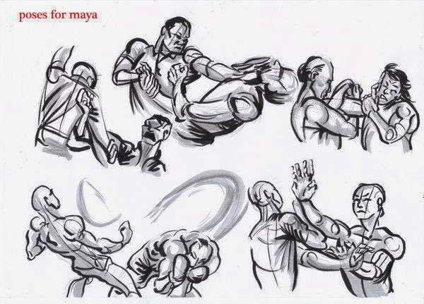 referencia dibujo pelea
