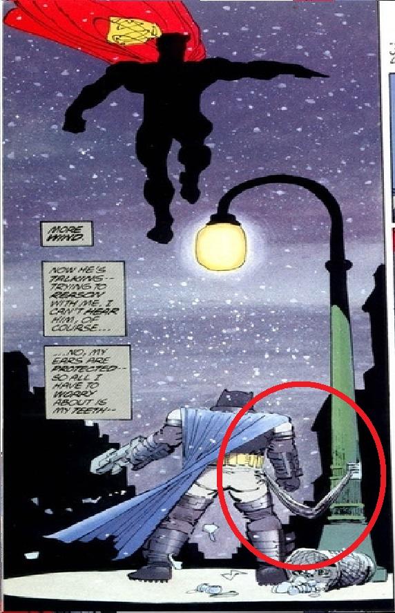 pelea de batman y superman poste electrico