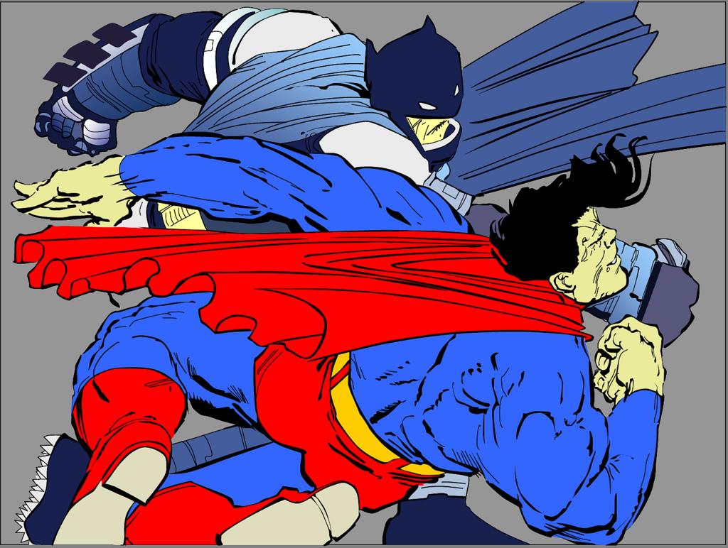 batman golpea a superman