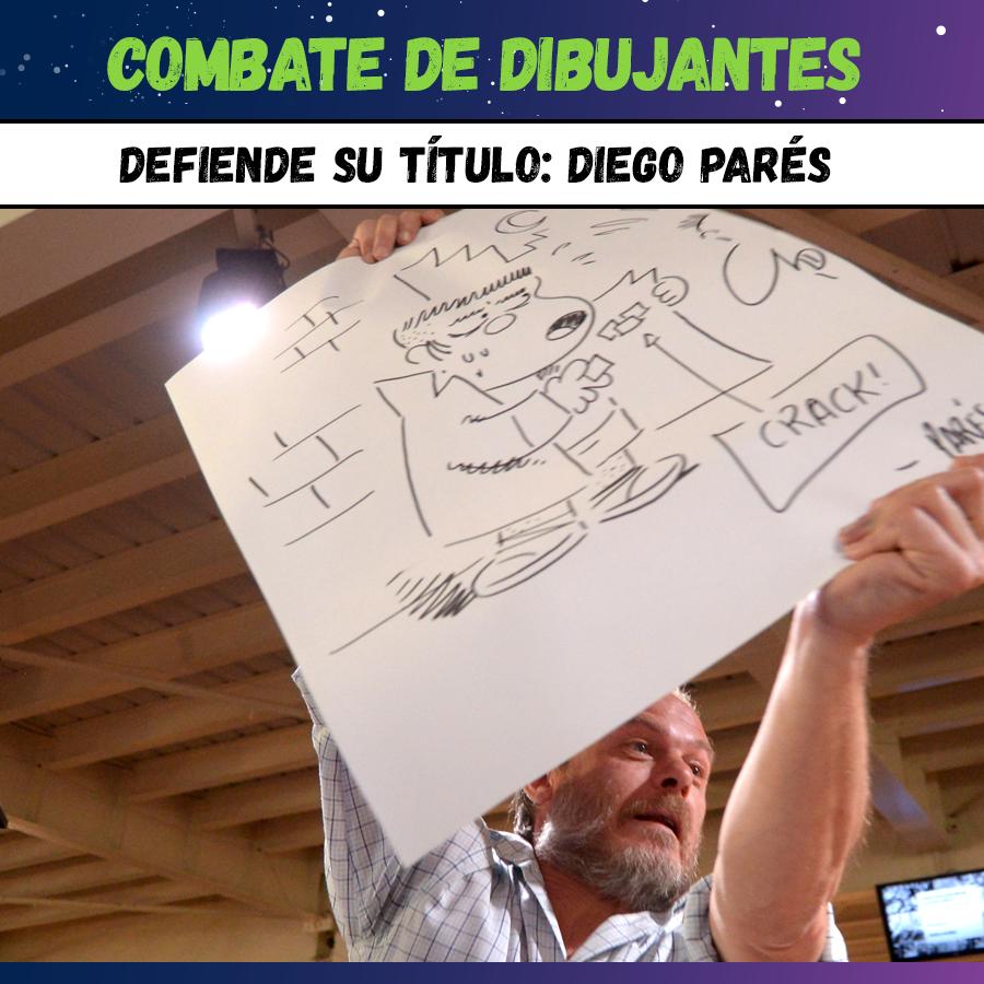 Diego Parés - Combate de Dibujantes - Comicópolis (2015)