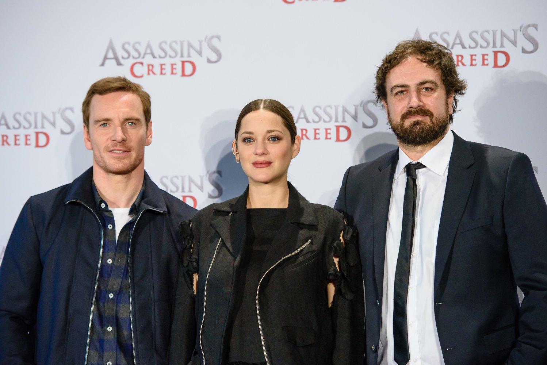 Michael Fassbender, Marion Cotillard y Justin Kurzel Assassin's Creed Movie