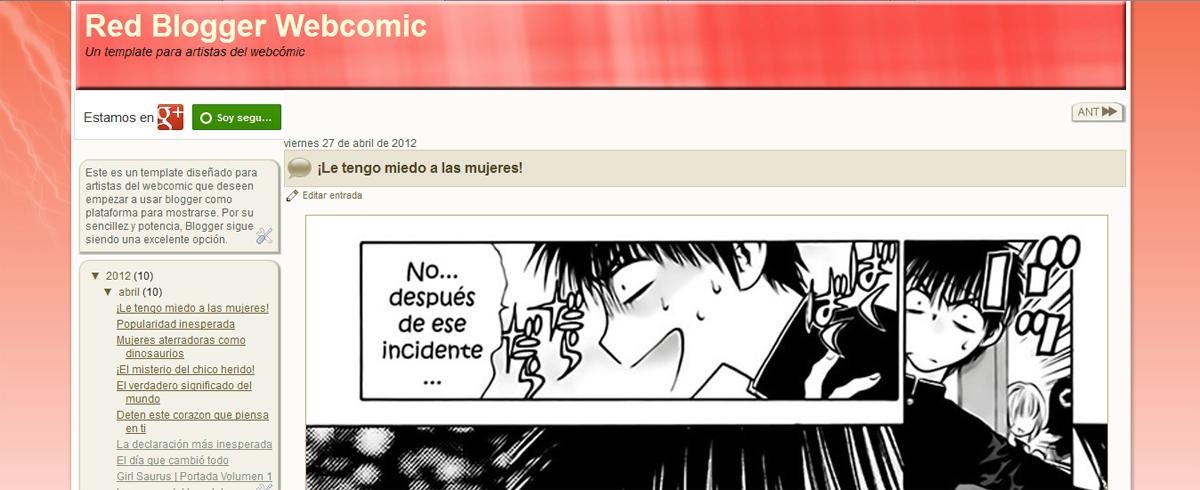template, plantilla, webcomic, blogger, blogspot, crear, blog
